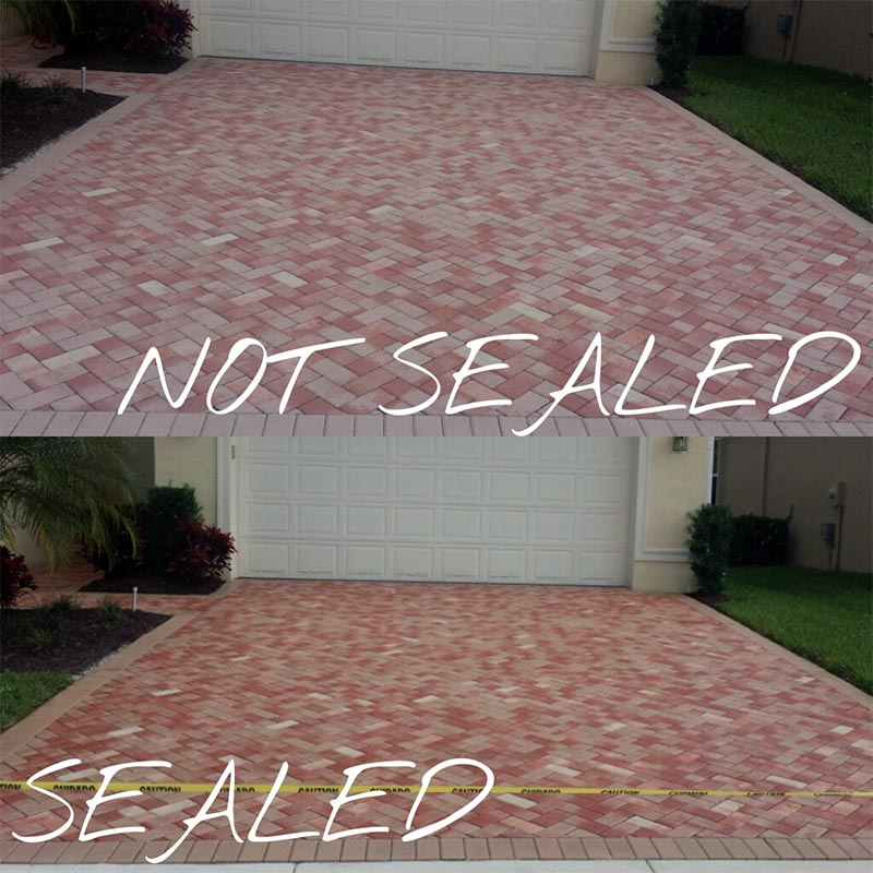 Driveway And Patio Pressure Wash And Sealing